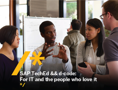 SAP TechEd && d-code: For IT and the people who love it